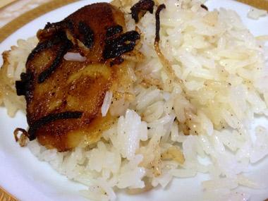 אורז עם תפוחי אדמה ובצל