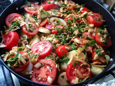 צ`נחי - תבשיל שכבות בשר וירקות