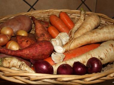 קדרת אסאדו וכתף בקר עם ירקות שורש
