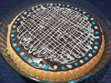 עוגת שכבות עם קרם וניל