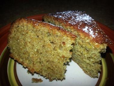 עוגת טחינה וקמח כוסמין