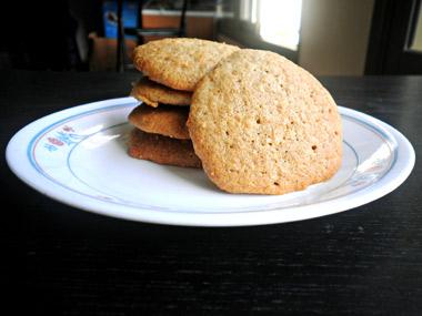 עוגיות שיבולת שועל וקמח מלא