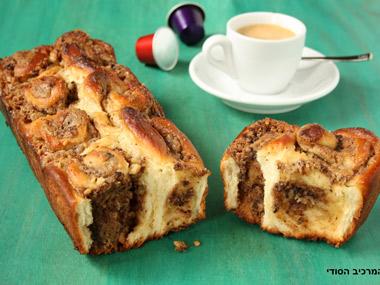 עוגת שמרים עם חלבה ושוקולד