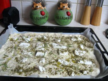 פוקצ`ה עם גבינה צפתית