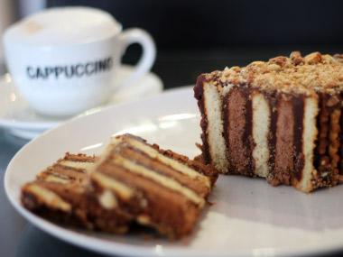 עוגת ביסקוויטים ללא אפייה