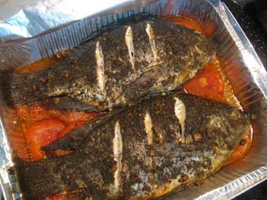 דג אמנון שלם בתנור