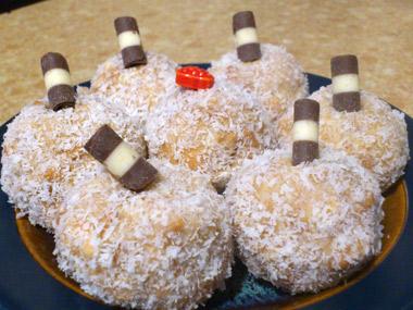 כדורי שוקולד לבנים בטעם וניל