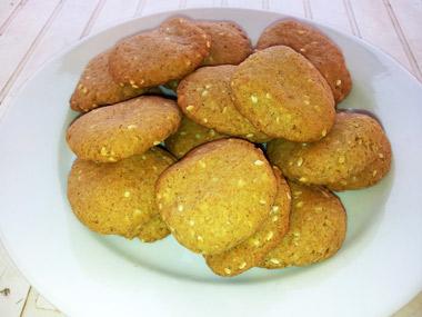 עוגיות שומשום ללא גלוטן וללא סוכר