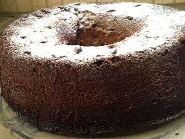 עוגת שיש תפוזים עם שוקולד צ`יפס