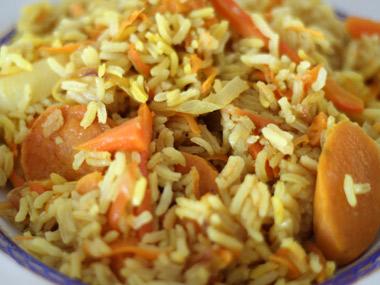 אורז יסמין צבעוני עם ירקות