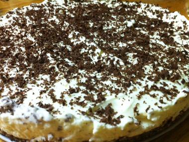 עוגה קרה ללא גלוטן בציפוי שוקולד