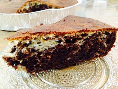 עוגת שוקולד עם גבינה