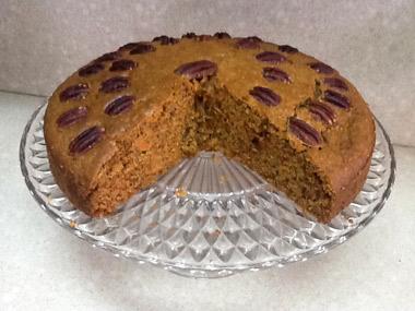 עוגת גזר ופקאן