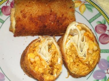 טורטיה מטוגנת במילוי חזה עוף