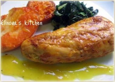 חזה עוף צלוי ברוטב תפוזים