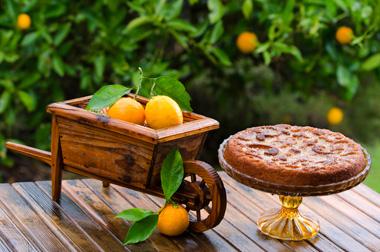 עוגת תפוזים חורפית עם נגיעות בריאות