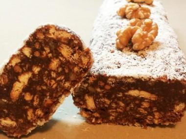 נקניק שוקולד וביסקוויטים