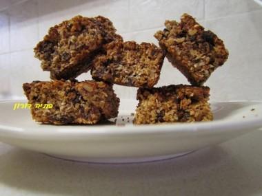 עוגיות קוואקר ואגוזים