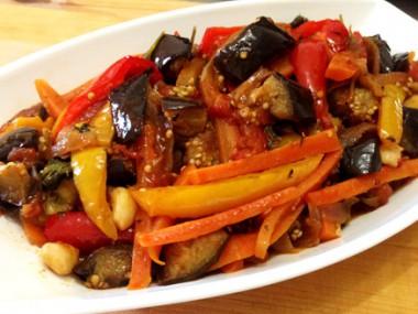 סלט ירקות מבושל פיקנטי