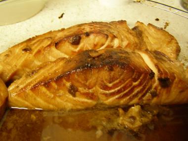 דג סלמון מושקע