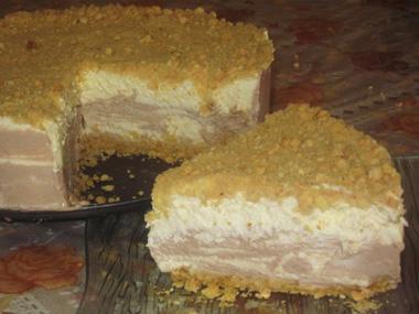 עוגת גבינה קרה שוקו - וניל