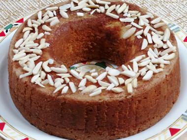עוגת קוקוס ושקדים