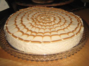 עוגת גבינה עם ריבת חלב