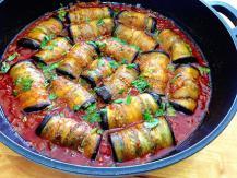 מוסקה חצילים ובשר ברוטב עגבניות