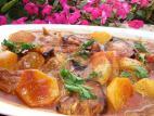 חצילים ותפוחי אדמה ברוטב חמוץ מתוק