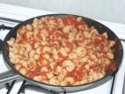 פסטה עם רוטב עגבניות מגורדות