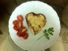 ביצה בקן בצורת לב