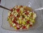 סלט פירות עם מיץ תפוזים