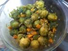 כרוב ניצנים בתיבול של שמן זית ושום