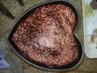עוגת שוקולד בצורת לב