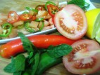 סלט עגבניות חריף
