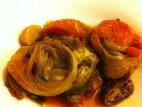 תבשיל חצילים, עגבניות ובצל