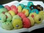 עוגיות חמאה צבעוניות
