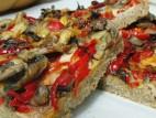 מאפה גבינה ופטריות מקמח מלא