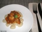 ניוקי עם רוטב ירקות וחזה הודו