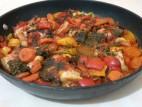 דג אמנון עם ירקות