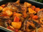 עוף בתנור עם ירקות