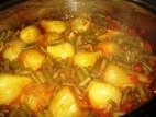 תבשיל שומר ושעועית ירוקה