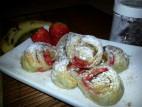 פרחי תותים ובננה עם קינמון
