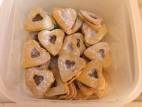עוגיות כריכונים במילוי ריבה ובמילוי שוקולד