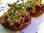 פטריות פורטובלו ממולאות בשר בקר טחון