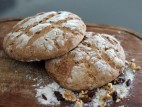 לחם שיפון עם צימוקים ואגוזים