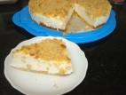 עוגת גבינה פירורים קלה