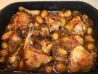 עוף בקדרה עם תפוחי אדמה קטנים