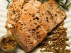 פילה דג סלמון בתנור בסילאן וחרדל