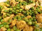 תבשיל פרגיות עם אפונה